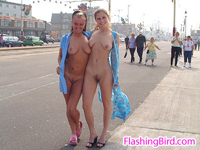 British females flashing naked in public girls streaking nude in